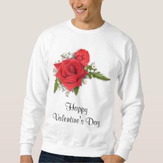 Glücklicher Valentinstag-romantische Rote Rosen Sweatshirt