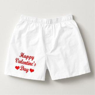 Glücklicher Valentinstag-rote Herren-Boxershorts