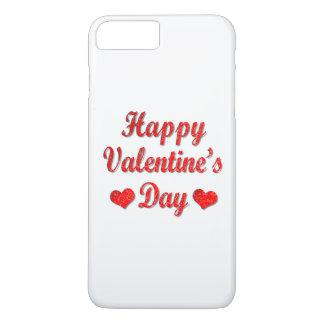 Glücklicher Valentinstag-roter Herzen iPhone 7 iPhone 8 Plus/7 Plus Hülle