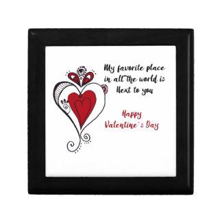 Glücklicher Valentinstag Schmuckschachtel