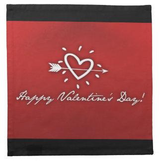 Glücklicher Valentinstag Stoffserviette