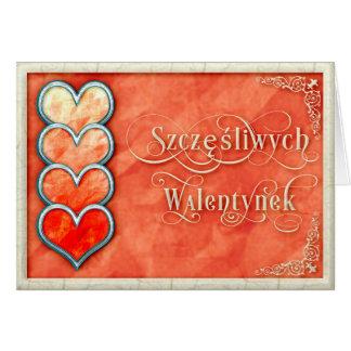 Glücklicher Valentinstag+Szczęśliwych Walentynek Karte