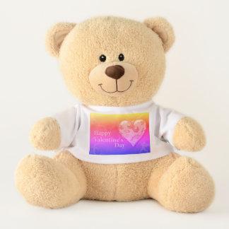Glücklicher Valentinstag Teddy