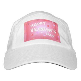 Glücklicher Valentinstaghintergrund Headsweats Kappe