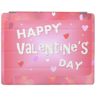 Glücklicher Valentinstaghintergrund iPad Hülle