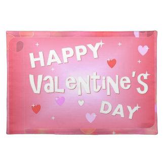 Glücklicher Valentinstaghintergrund Tischset