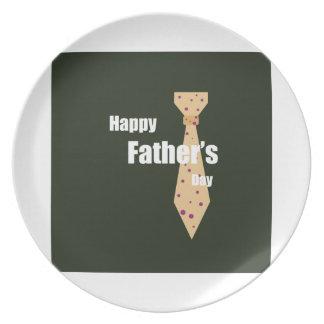 Glücklicher Vatertag Flache Teller