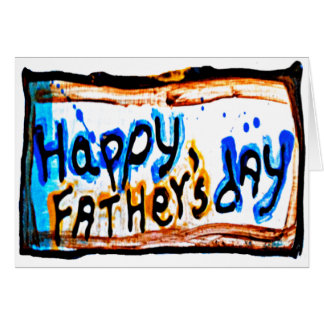 glücklicher Vatertag Karte