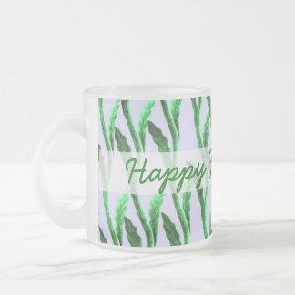 glücklicher Vatertag verzweigt sich Grün Mattglastasse