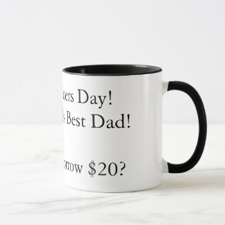 Glücklicher Vatertag! zum Weltbesten Vati! Oh, Ca… Tasse