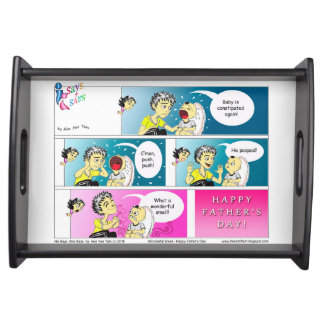 Glücklicher Vatertags-Cartoon Tablett