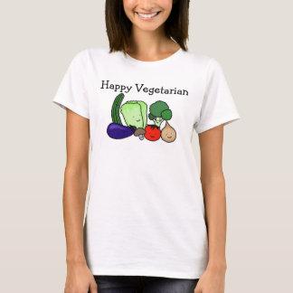 Glücklicher vegetarischer T - T-Shirt