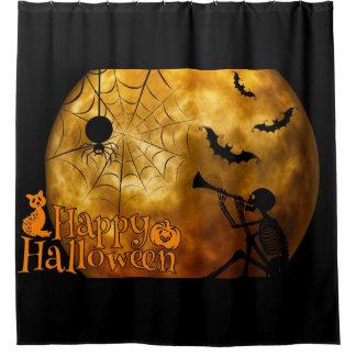 Glücklicher Vollmond Halloweens Duschvorhang