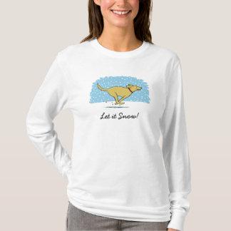 Glücklicher Winter-Schnee-Hundefeiertag - lassen T-Shirt