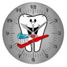 Glücklicher Zahn Große Wanduhr