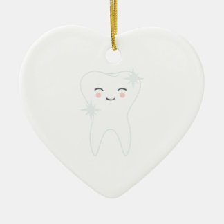 Glücklicher Zahn Keramik Ornament
