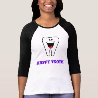 glücklicher Zahn Raglan T-Shirt