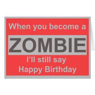 Glücklicher Zombie-Geburtstag Grußkarte