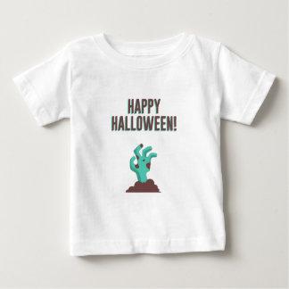 Glücklicher Zombie-Leichen-Entwurf Halloweens Baby T-shirt
