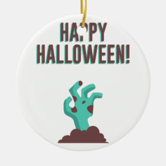 Glücklicher Zombie-Leichen-Entwurf Halloweens Keramik Ornament