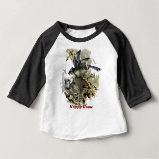 Glücklicher Zuhauseblaustrahl Baby T-shirt