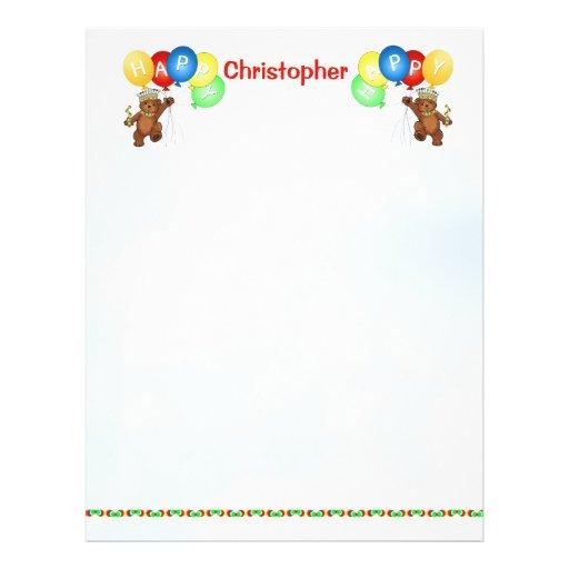 Glückliches 1. Geburtstags-Bärn-Einklebebuch-Papie Flyer Druck