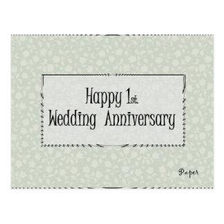 Glückliches 1. Hochzeitstag Postkarte