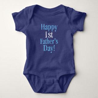 Glückliches 1. Vatertags-Baby-Shirt Baby Strampler