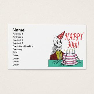 Glückliches 30. visitenkarte