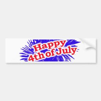 Glückliches 4. des Juli-Grafik-Themas Autoaufkleber