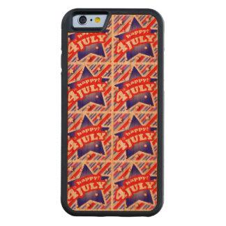 Glückliches 4. des Juli-Thema-Musters Bumper iPhone 6 Hülle Kirsche