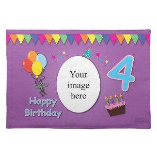 Glückliches 4. Geburtstags-Tischset