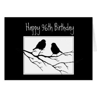 Glückliches 96., neunzig 6., erste Vögel des Karte