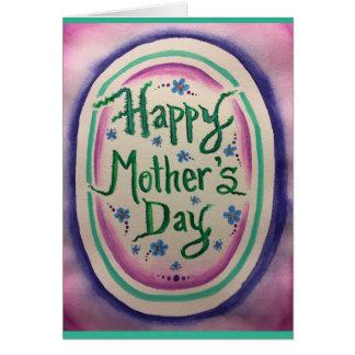 Glückliches Aquarell der Mutter Tages Karte