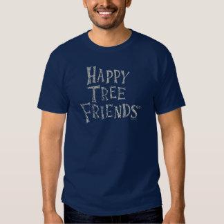 Glückliches Baum-Freund-Logo Tshirts