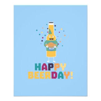 Glückliches Beerday Beerbottle Zhnp3 Flyer