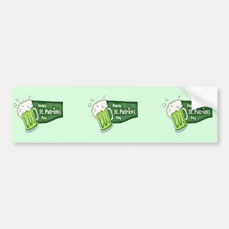 Glückliches Bier St. Patricks Tages Autoaufkleber