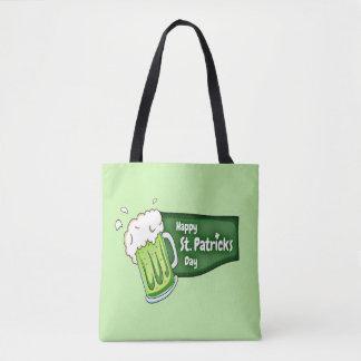 Glückliches Bier St. Patricks Tages Tasche