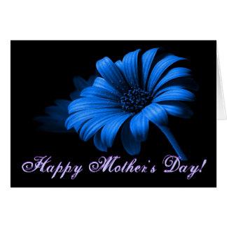 Glückliches blaues Gänseblümchen der Mutter Grußkarte