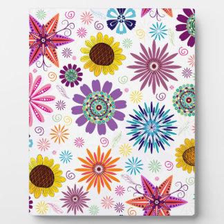 Glückliches Blumenmuster Fotoplatte