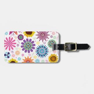 Glückliches Blumenmuster Gepäckanhänger