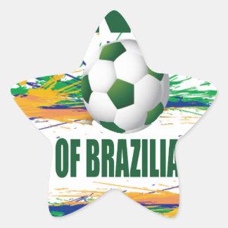 Glückliches Brasilien Stern-Aufkleber