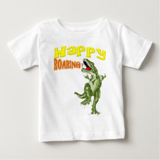 Glückliches Brüllen Baby T-shirt