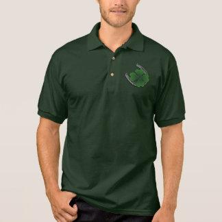Glückliches Button herauf Mädchen-Shirt-die Polo Shirt