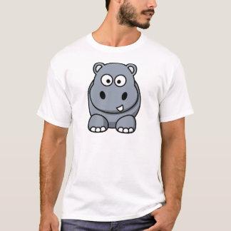 Glückliches Cartoon-Flusspferd T-Shirt
