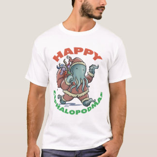 Glückliches Cephalopodmas T-Shirt