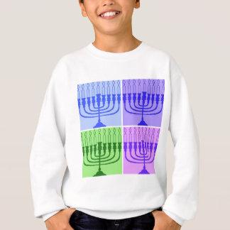 Glückliches Chanukka Menorah Sweatshirt