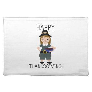 Glückliches Dank-Geben Tischset