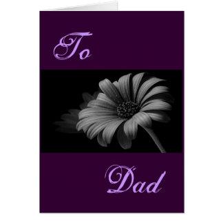 Glückliches der Vatertags-graues Gänseblümchen I Grußkarte