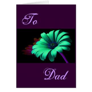 Glückliches der Vatertags-grün-blaues Grußkarten